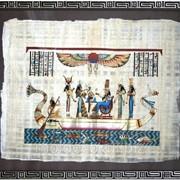 Египетский папирус в багетной рамке фото