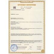 Сертификат соответствия ТР ТС в Алматы фото