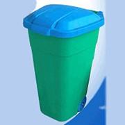 Бак для мусора 110л. с крышкой на колесах фото