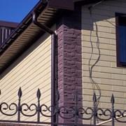 Сайдинг фасадный каменный под кирпич.  фото