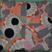 Подушка для сидения стеганая Puff Red &White 40x40x8 см Украина фото