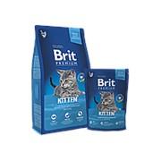 Brit Premium Сat Kitten 1,5кг сухой корм для котят Курица фото