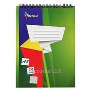 Блокнот для записей A5, forpus, 70 листов, спираль горизонтальная FO42301 фото