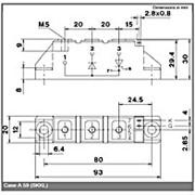 Модуль диодно-тиристорный Semikron Semipack™ SKKL92/12E фото