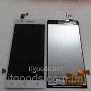 Дисплей оригинальный (модуль) + тачскрин (сенсор) для Huawei Ascend G6-U10 (белый цвет) 3990 фото