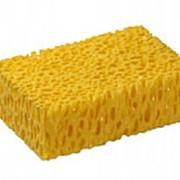Губка пористая жёлтая фото