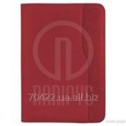 Бизнес-организатор на молнии, 184 * 260 мм, на кольцах, красный, бумага 80 г/м2, кремовый фото