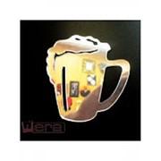 Зеркальный магнит Кружка пива, 8х8 см фото
