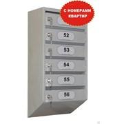 Ящик почтовый шестисекционный металлический  фото