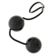 Чёрные вагинальные шарики на мягкой сцепке GOOD VIBES PERFECT BALLS фото