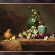 Картина Зеленая ваза и сливы, Ридель, Давид фото