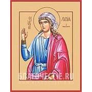 Храм Покрова Богородицы Лидия Филиппийская, святая мученица, икона на сусальном золоте (дерево 2 см с ковчегом) Высота иконы 10 см фото