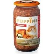Puffins 650г конс. Влажный корм для взрослых кошек Говядина фото