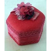 Шкатулка с розочкой 10x10x7см фото