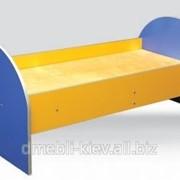 0832 Ліжко дитяче з заоваленими спинками (без матраца) 1400х650х600 фото