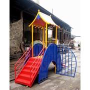 Домик с горкой для детей ДГ-6 Махараджа фото