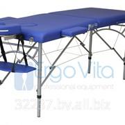 Складной массажный стол ErgoVita Master Econom ультра-легкий (2-х секционный, алюминиевый, синий) фото