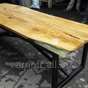 Столы-слэбы. Обеденные столы из спила дерева. фото