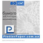Бумага инженерная для плоттеров 80г/м 610мм (24″) х 50м фото