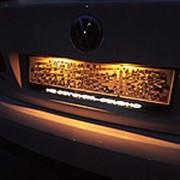 Рамка для гос.номера с подсветкой логотипа фото