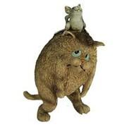 """Фигурка декоративная """"Кот и мышка"""" 11*8*15см. 22760 фото"""