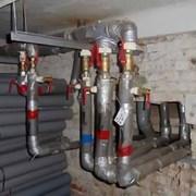 Замена труб (лежаков) системы отопления дома фото