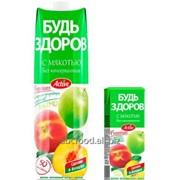 """Нектар с мякотью """"Будь здоров"""" яблочно-персиковый, объем 1/0,2л фото"""