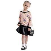 Трендовая детская расклешенная юбка черного цвета 116 фото
