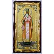 Икона большая Храмовая с багетом Власий, Святой мученицы, в фигурном киоте 61х112 фото