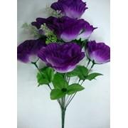 Цветок искусственный 10 бутонов розы Арт.055-13 фото
