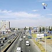 Реклама на газовых аэростатах типа AU-6 в городских условиях фото