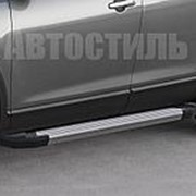 "Порог - площадка RIVAL ""Silver"" для Chevrolet Captiva 2011-2013-2015 фото"