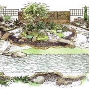 Проектирование ландшафта сада. Создание эскизов фото