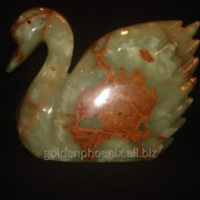 Статуэтка Лебедь из оникса (21х19.5 см.) фото