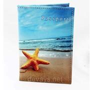 Обложка для паспорта из кожзама Отпуск фото