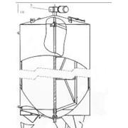 Резервуар вертикальный со змеевиком охлаждения РВО-10,0.2.Т.К.0.3.Р ПС фото