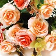 Искусственные цветы розы фото
