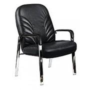 Кресло для офиса на хромированных опорах Гранд CH LB CFB фото