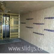 Решетка раздвижная Slidys на двери фото