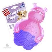 Игрушка для собак GiGwi Бегемотик с пищалкой розовый 9 см (арт.75425) фото