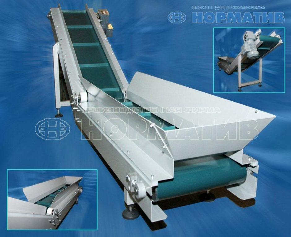 Загрузочный ленточный транспортер морозостойкий конвейер