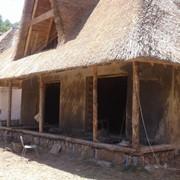 Дом с камышовых блоков фото