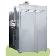 Печь камерная полимеризации порошковых покрытий, оборудована системой автоматического регулирования температуры, имеет таймер для установки времени термообработки и звонок для извещения об окончании процесса фото
