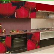 Кухонный гарнитур с розами фото