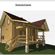Проекты домов, дома деревянные, Бани, баня 5,5х8,5 фото