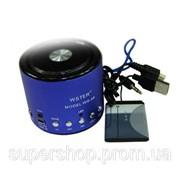 Мини портативная MP3 колонка от USB FM WS-A8 Blue par002880opt фото