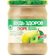 """Пюре фруктовое яблочно-грушевое """"Будь здоров"""", 450г фото"""
