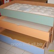 Кровать трехярусная для детских садов фото