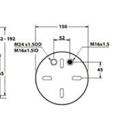 Пневмоподушка задняя MB Actros (2 воздуха) - 5002-03-0177P (4390NP22, 4390NP02, 9423202921) фото