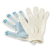 Перчатки хозяйственная Х/б с точечным пвх покрытием фото